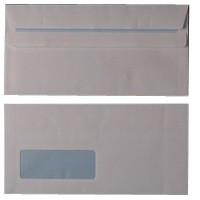 Envelope DL Window 80gsm White Self-Seal Pk 1000