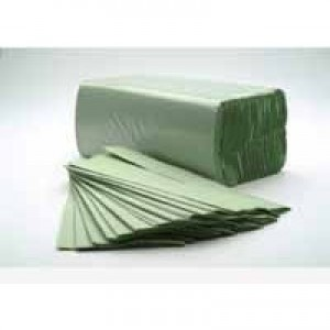 White Box C-Fold Towel 1-Ply Green Pack of 184x16