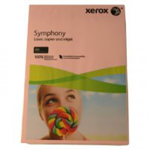 Xerox Symphony Paper A4 80gsm Pastel Tints Pink Ream 003R93970